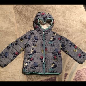 gap Disney girls winter warm jacket size small
